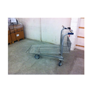 Chariot grillagé emboîtable Cash & Carry , zingué